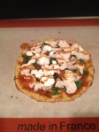Turkey BBQ Goat Cheese Pizza